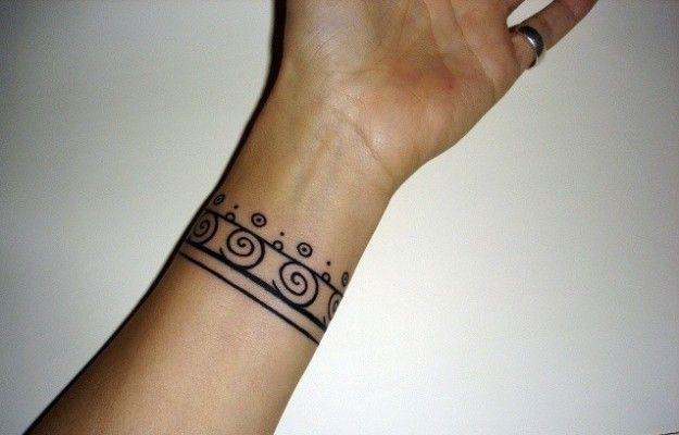 Tatuajes De Brazaletes Para Mujeres Pulsera Espirales Tattoo