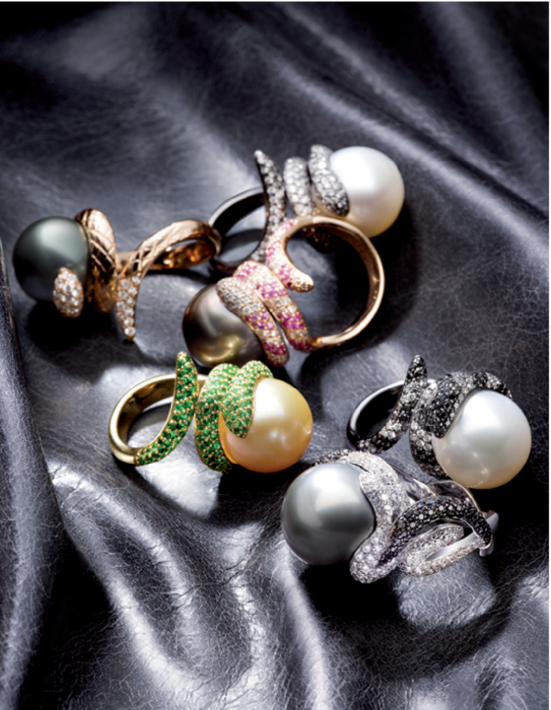 UTOPIA pearl, diamond and gemstone rings