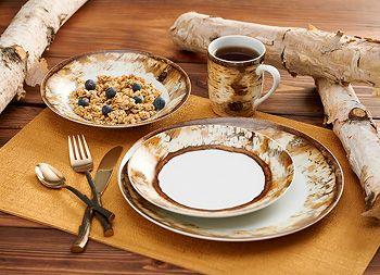 8955228901:Hardwood Forest - Dinnerware Set