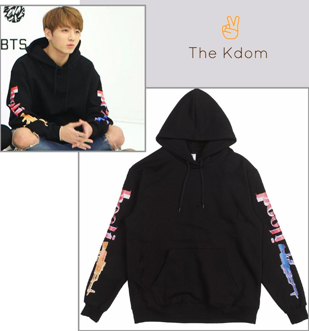 153162386 BTS - JUNGKOOK Black Hoodie in 2019 | The Kdom | Your KPOP Shopping ...