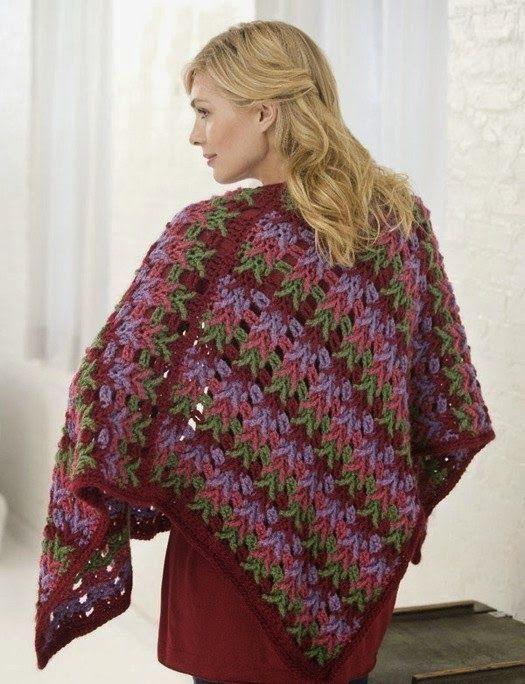 Patrones Crochet: Chal Detalle Puntas de Flecha Patron | Crochet ...