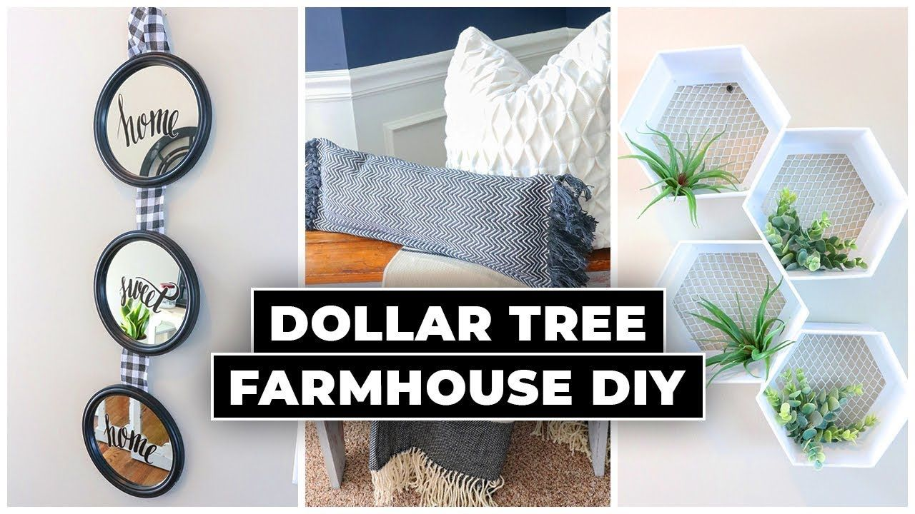 Dollar Tree Diy Farmhouse Decor 2020 Youtube In 2020 Diy Dollar Tree Decor Diy Farmhouse Decor Dollar Tree Decor
