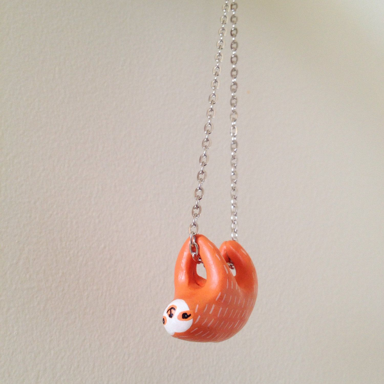 pink us s necklace sloth claire pendant