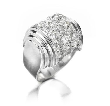 FD GALLERY | Rare & Vintage | A Diamond and Platinum Ring, by Boivin, circa 1930