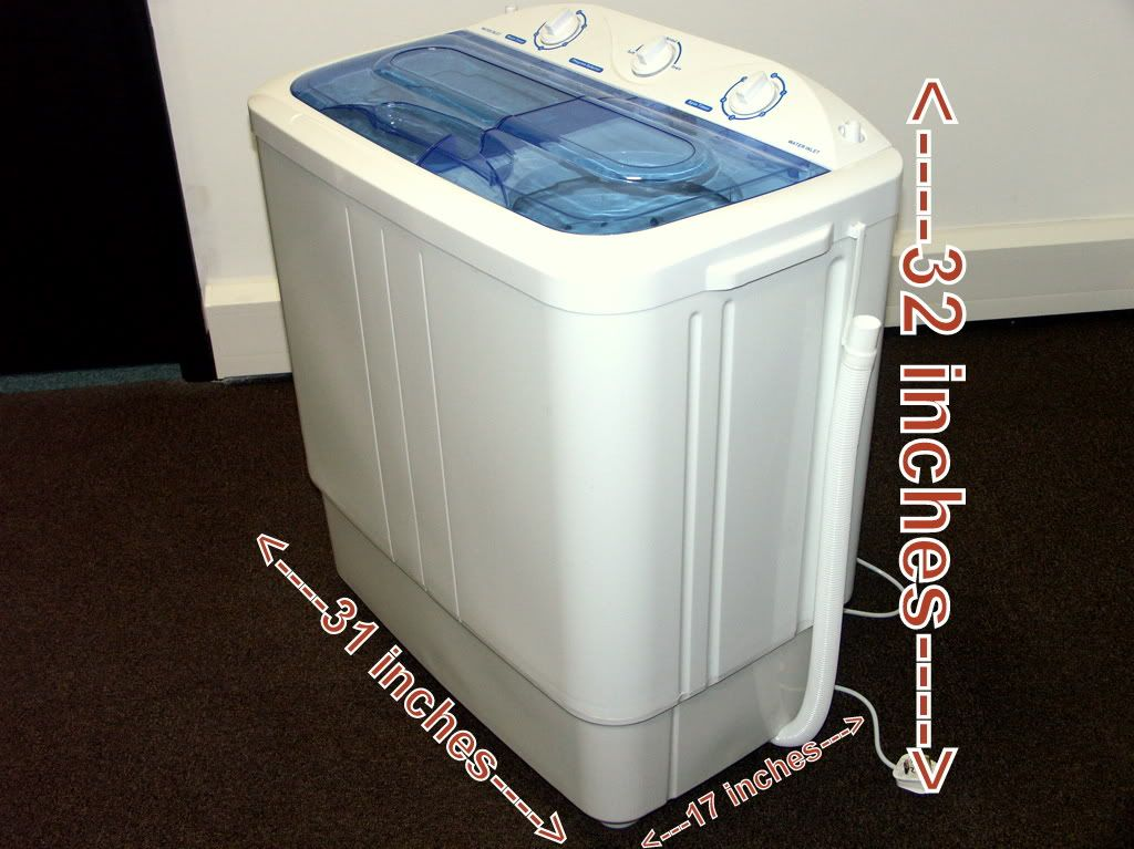 Portable 6.8kg twin tub mini washing machine spin dryer electric ...