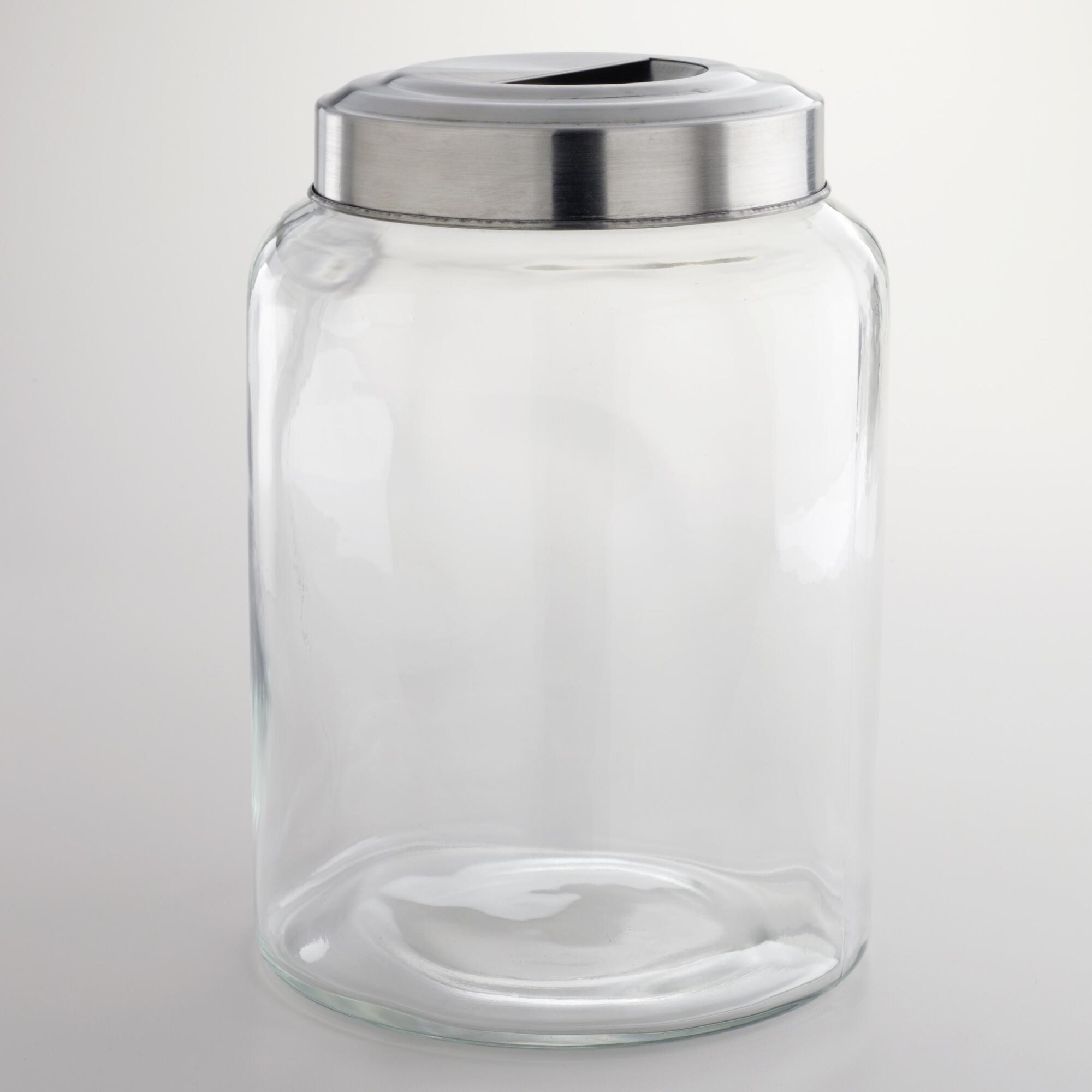 Huge Glass Cookie Jar Large Glass Kitchen Jar By World Market Farmhouse Home