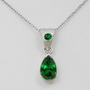 Tsavorite pendant front view stonesjewelry pinterest tsavorite pendant front view aloadofball Image collections