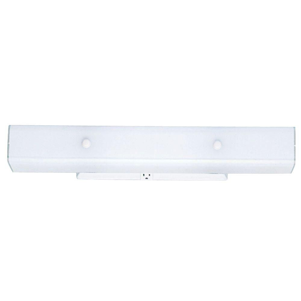Westinghouse 4 Light White Interior Wall Fixture With Ceramic Glass Home Depot 30