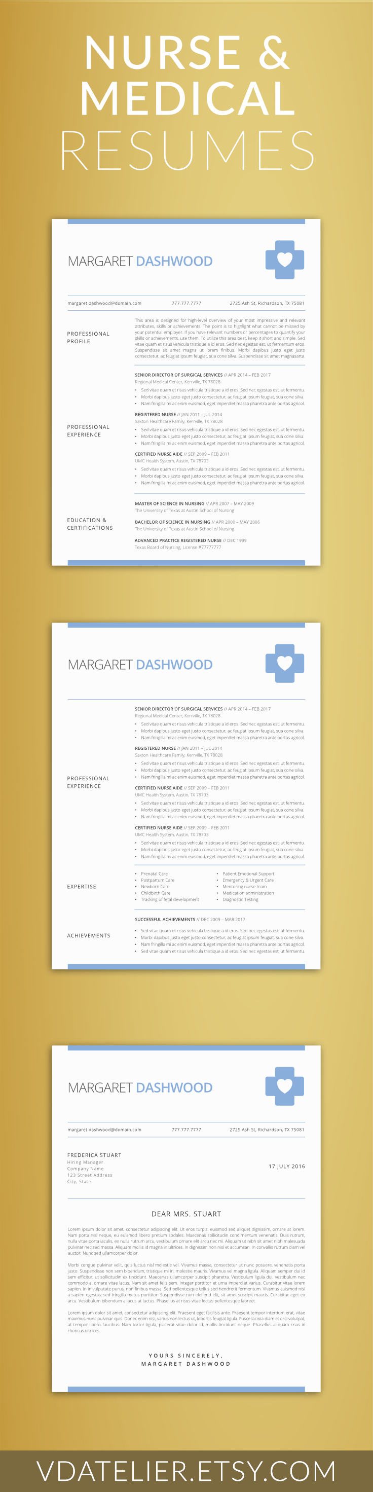 nurse resume template 5 pages