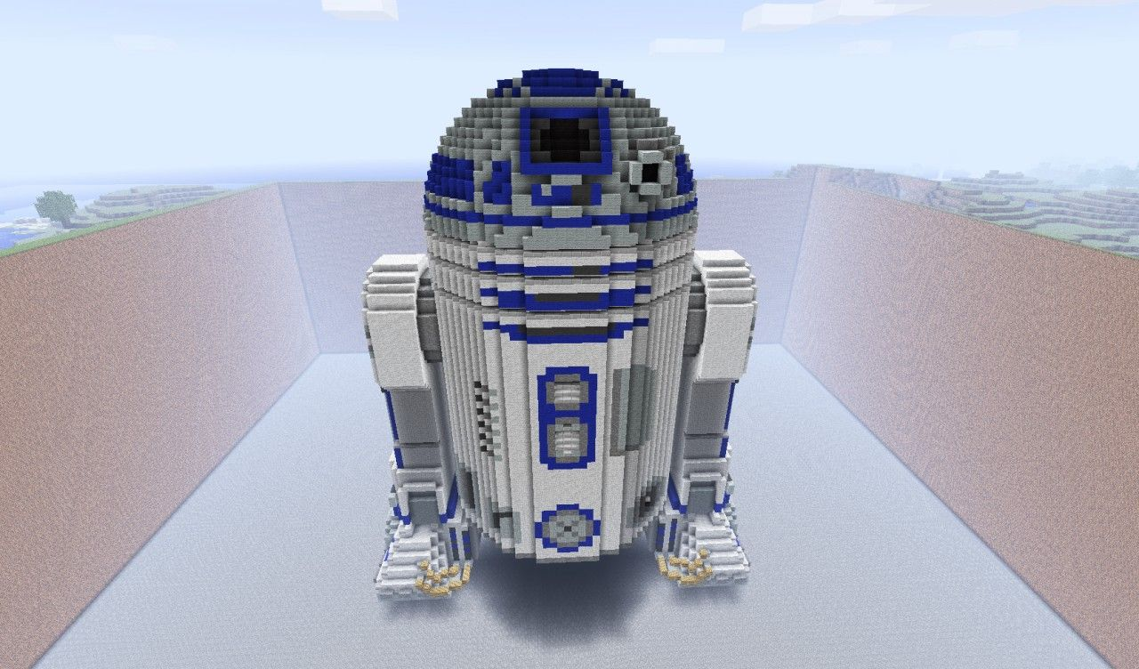 R2d2 3d Schematic Minecraft Projects Minecraft Minecraft