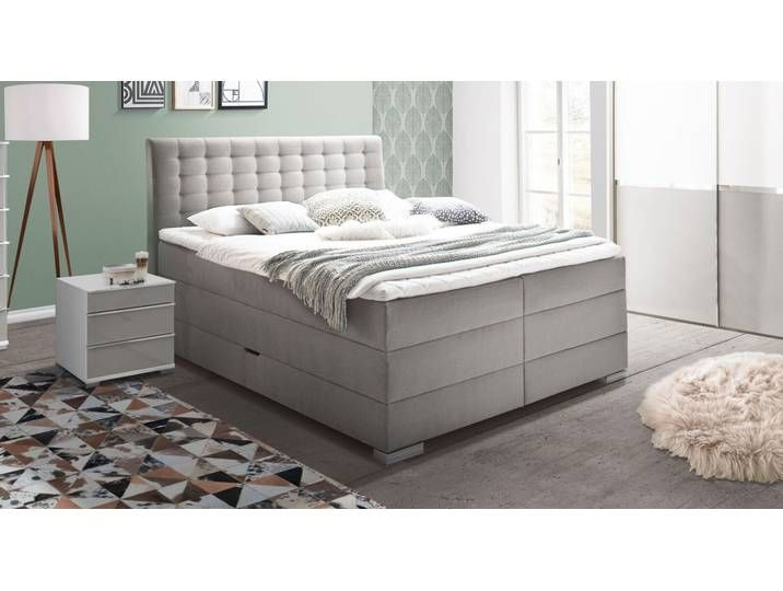 Photo of Boxspringbett 160×200 cm anthrazit mit Bettkasten und Topper – Viviana