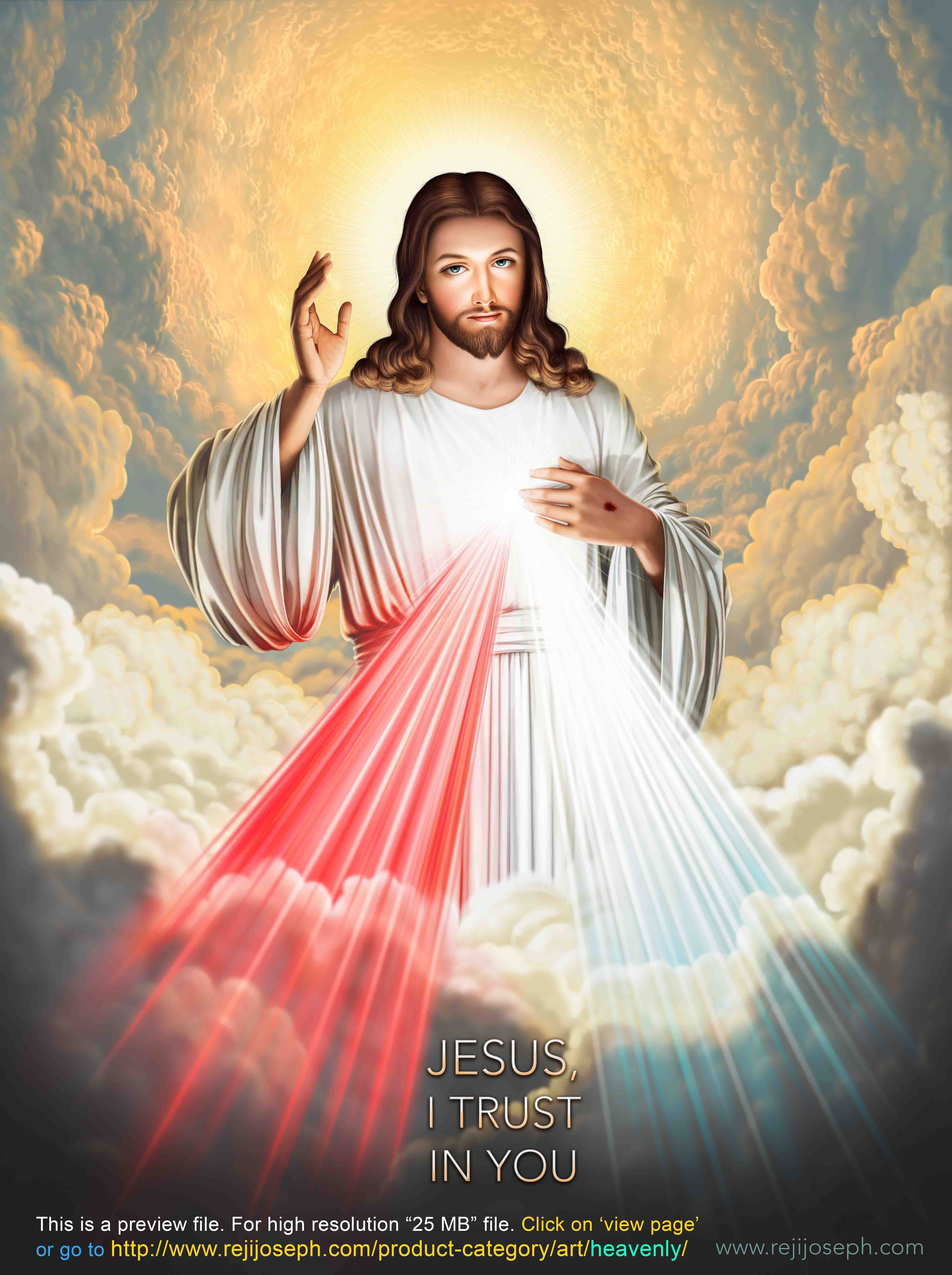 Free Stock HD Images & Textures: Sacred Heart Rays