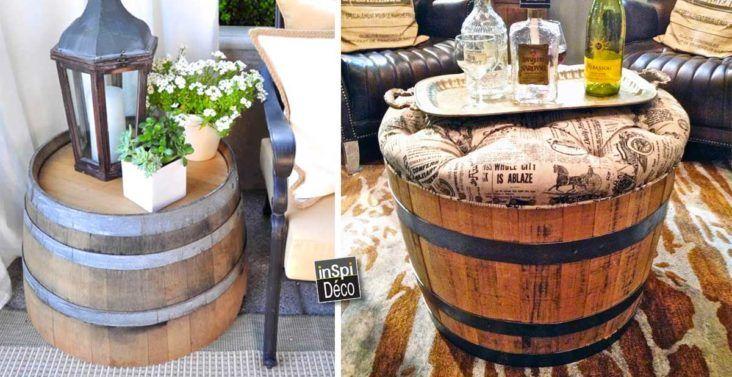 recycler des tonneaux de vin pour d corer son int rieur 37 id es idees pinterest. Black Bedroom Furniture Sets. Home Design Ideas