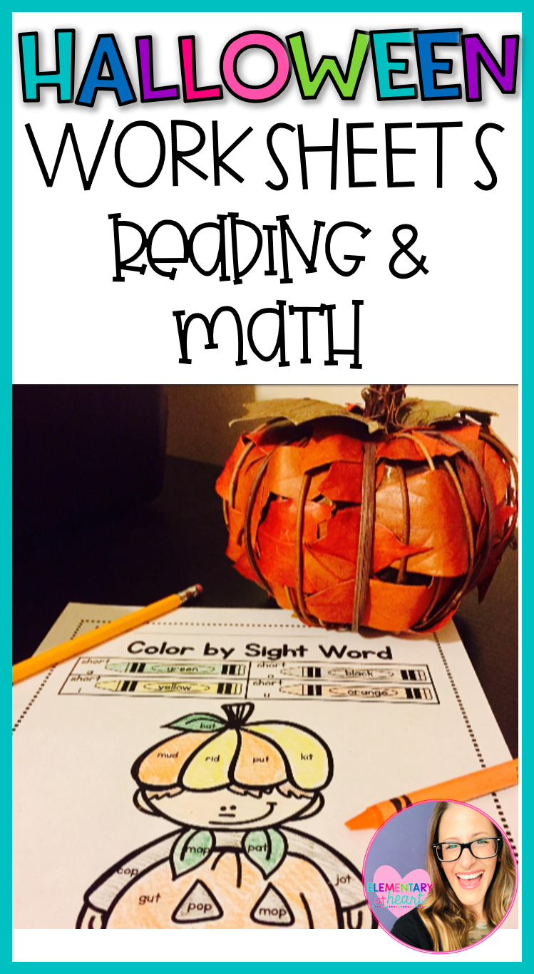 Halloween Reading And Math Worksheets K 1 Halloween Worksheets Halloween Reading Halloween Words [ 1367 x 749 Pixel ]