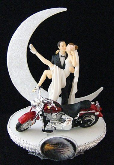 CAKE TOPPERS FOR WEDDING CAKES Motorcycle Wedding Cake Toppers