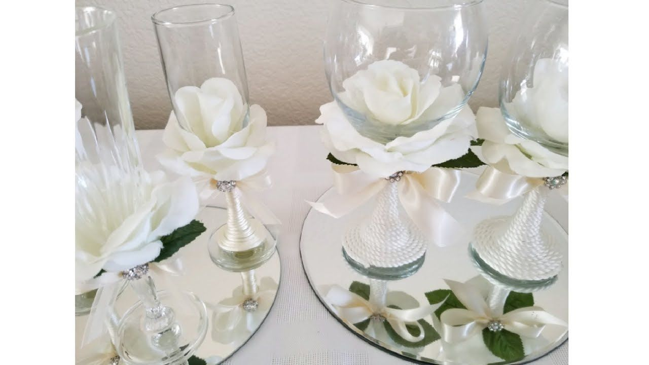 DIY| ROSE COVERED WINE GLASSES/ SOME DOLLAR TREE ITEMS - YouTube ...