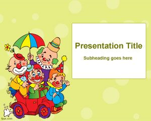 kids party powerpoint template is a funny template background for