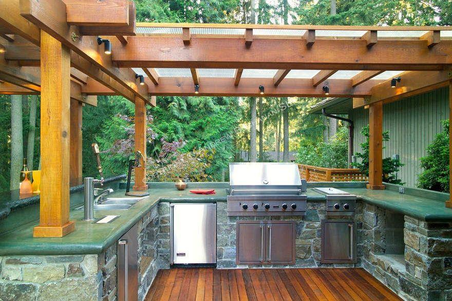 outdoor deck desigsn | Outdoor Kitchen with Deck Design Ideas ...