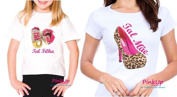 aa9fb20ade9c83 Kit 2 Camisetas - Tal Mãe Tal Filha | Presentes Personalizados ...