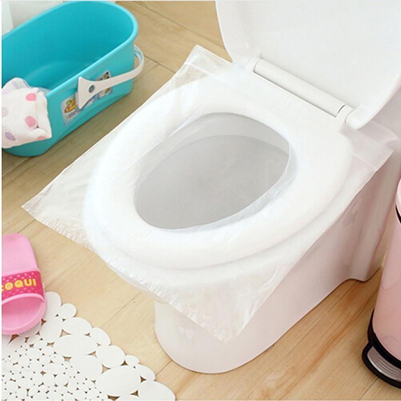 10pcs Lot Travel Disposable Toilet Seat Cover Mat 100 Waterproof