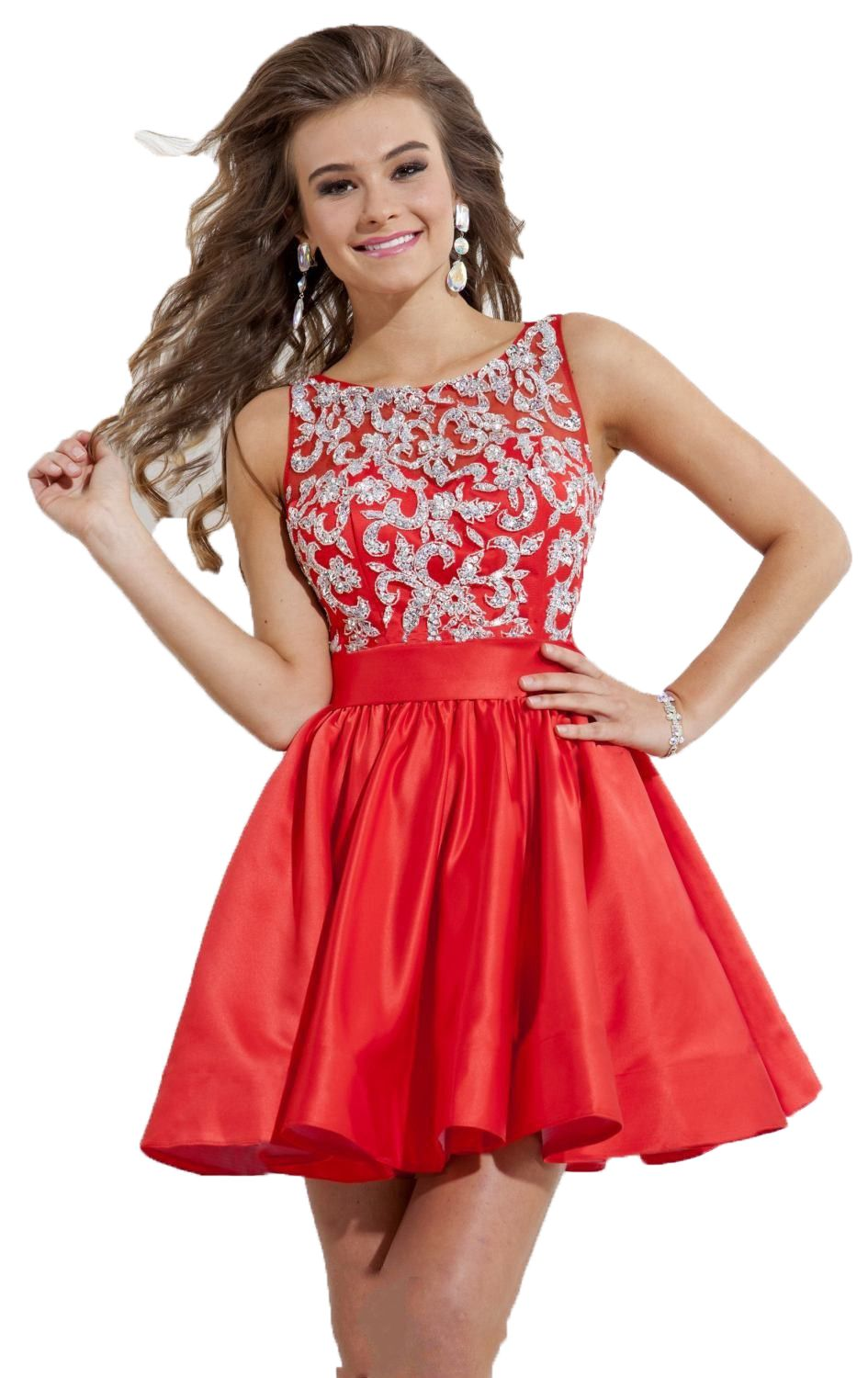 Free shipping buy best top quality short red cocktail dresses