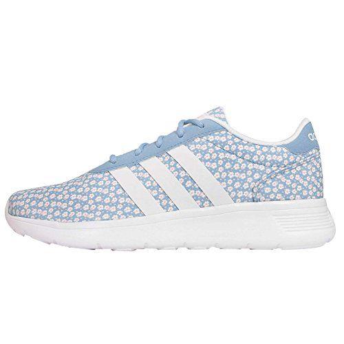 Adidas  mujer 's Lite Racer W, floral print / azul / blanco / rosa adidas