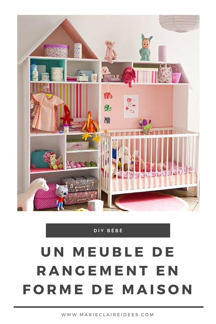 Meuble De Rangement Pour Garderie un meuble de rangement pour bébé en forme de maison