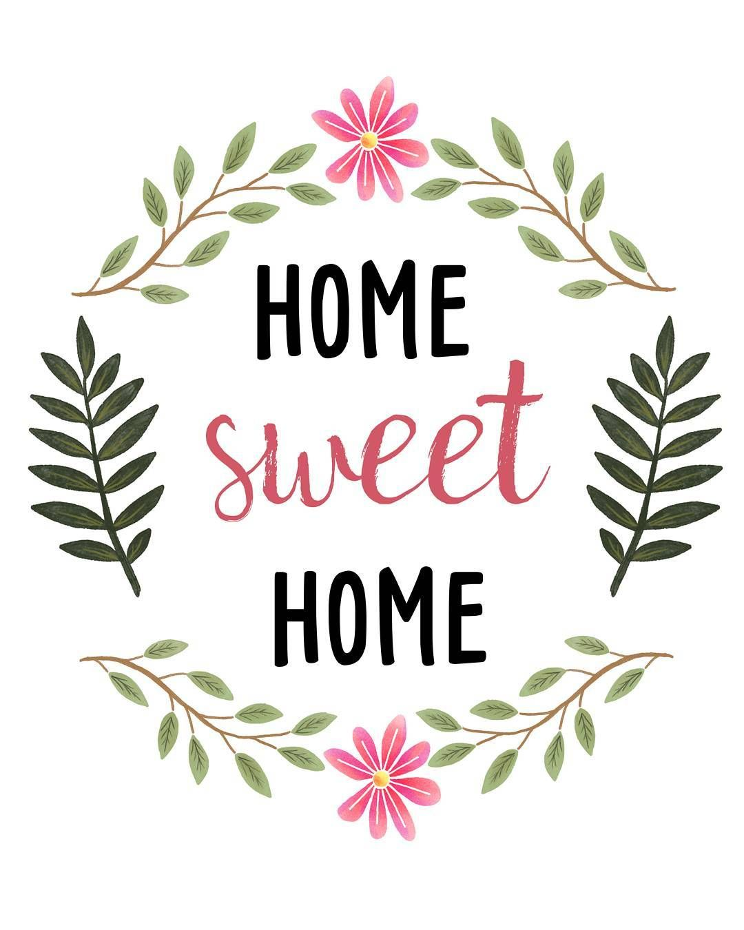 sweetdailiness Free Home Sweet Home Printable Download it at www