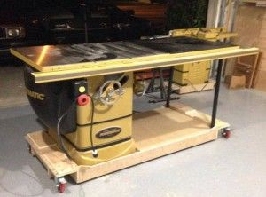 Mobile Base for Powermatic tablesaw | Workshop | Pinterest | Gold ...