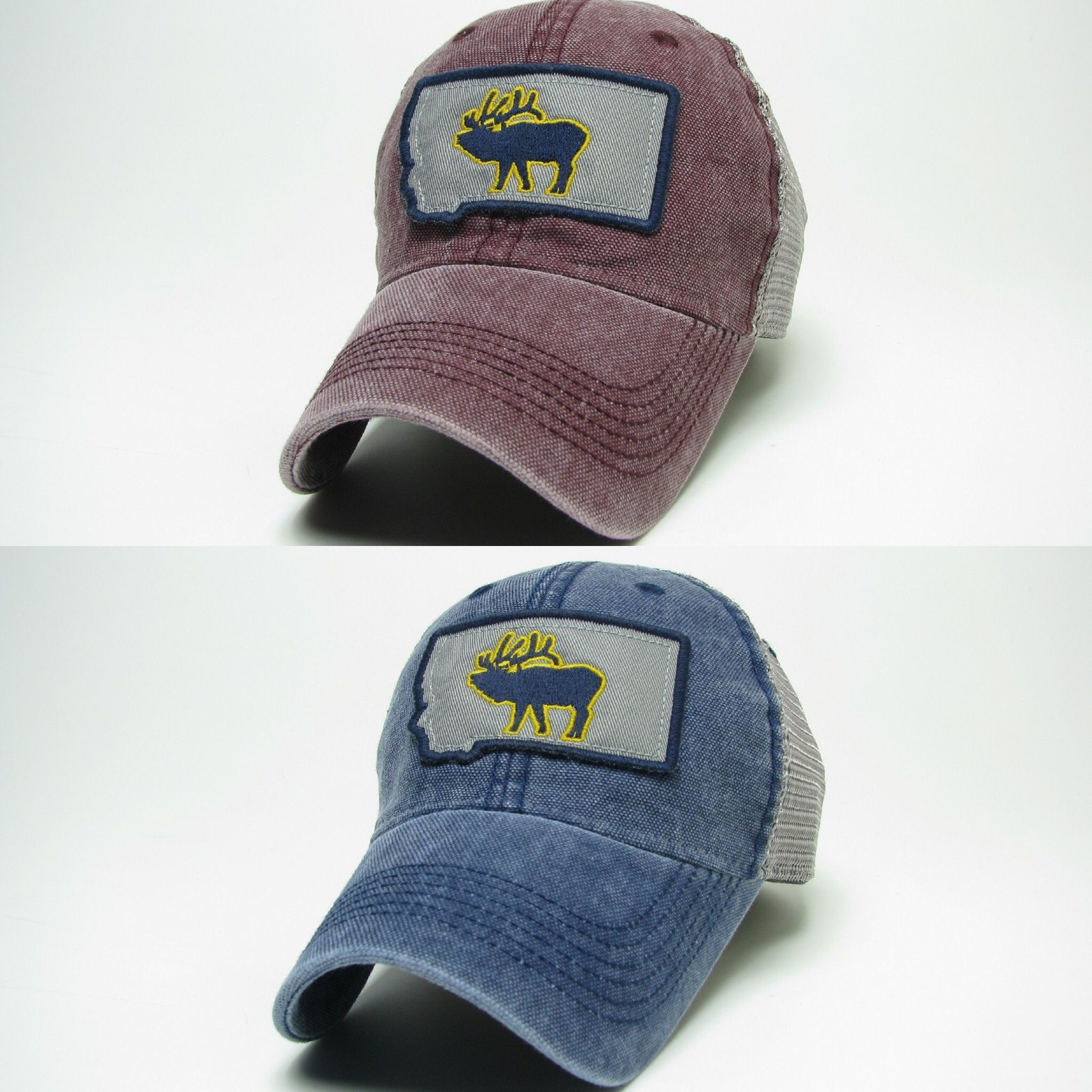 Montana trucker hats  100% cotton twill front and extra soft