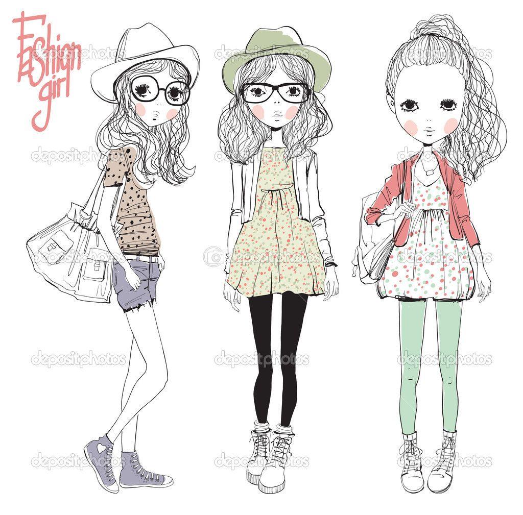 Little Girl Fashion Illustration