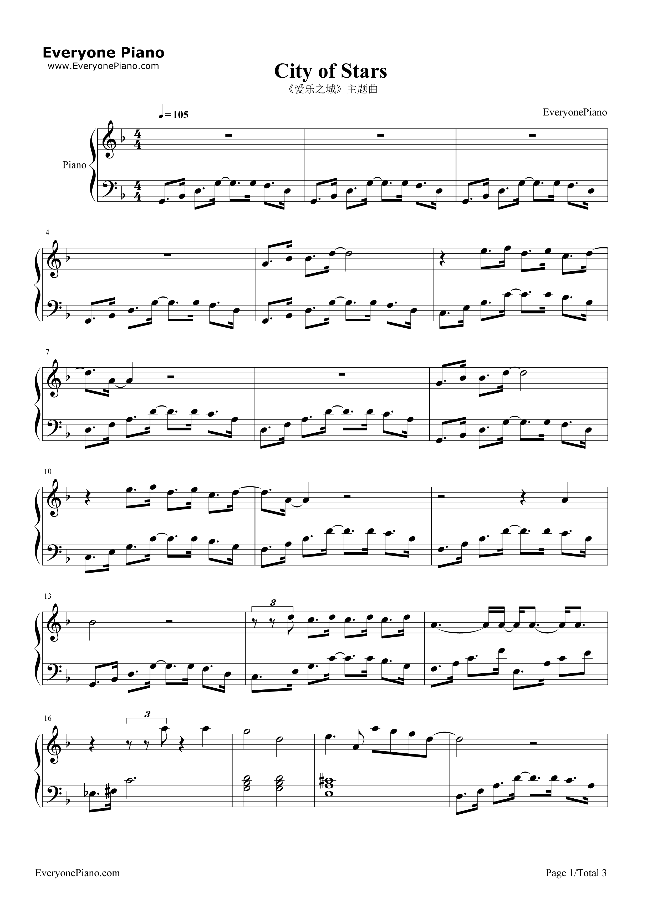 City of stars 1 free city of stars piano sheet music is provided for you city of stars is a song sung by ryan gosling and emma stone from the film la la land hexwebz Choice Image