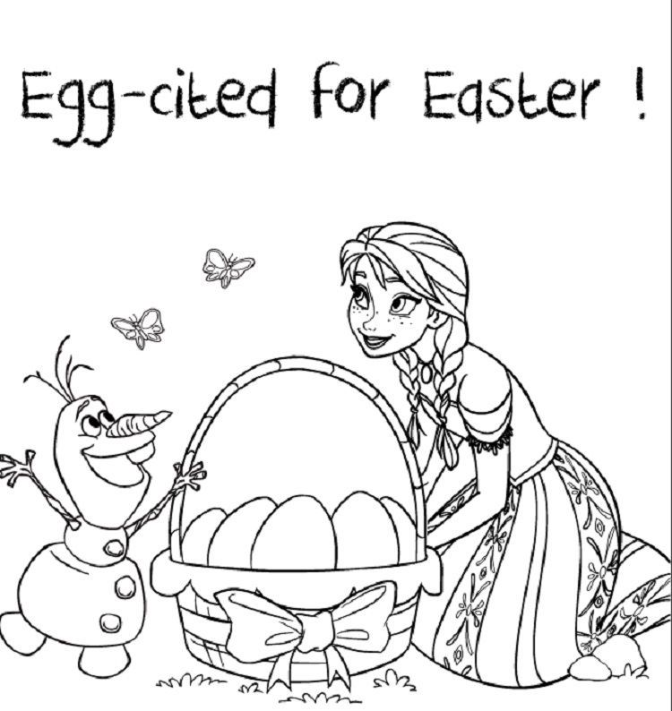 Frozen Coloring Pages Easter in 2020 | Frozen easter ...