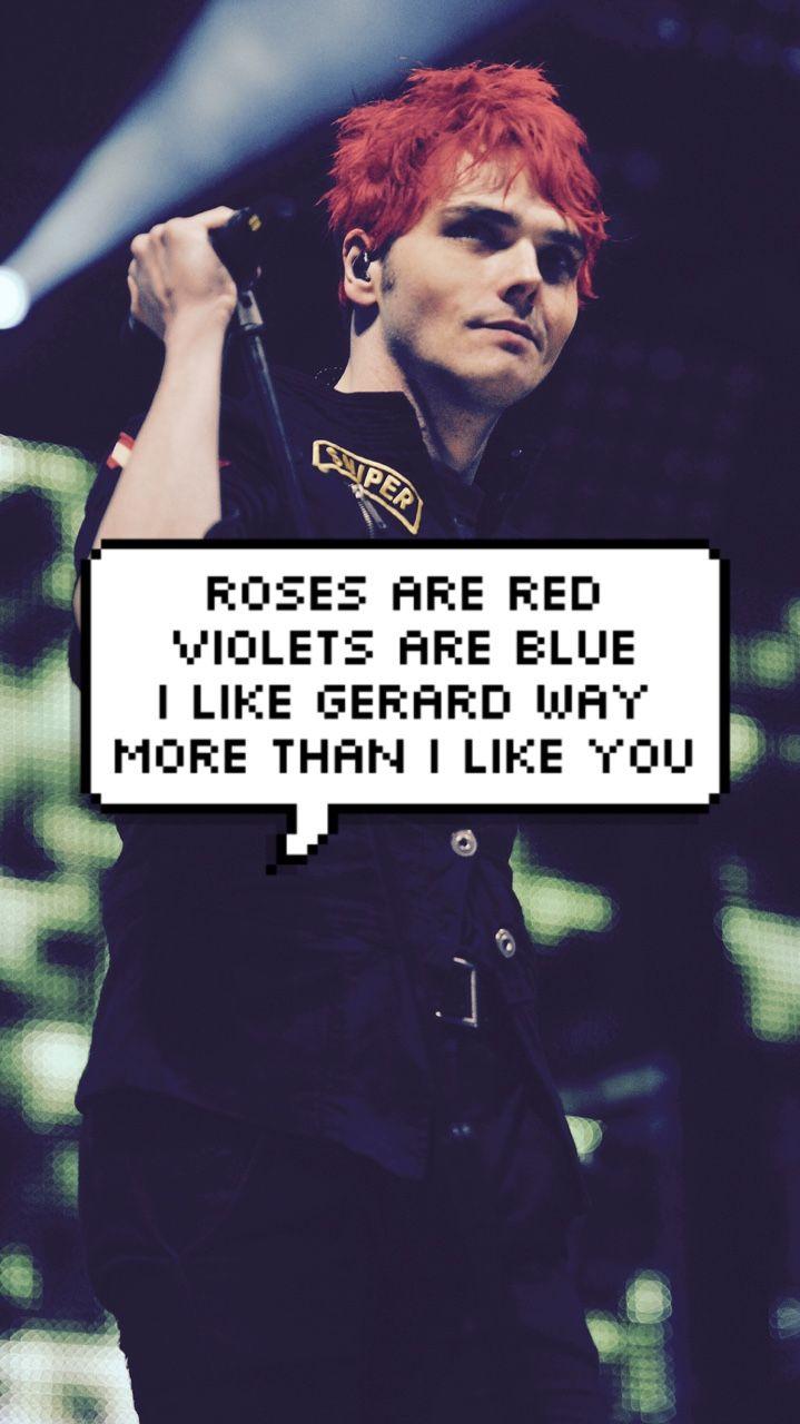 Gerard Way Lock Screens Iphone Band Wallpapers My Chemical Romance Wallpaper Gerard Way My Chemical Romance