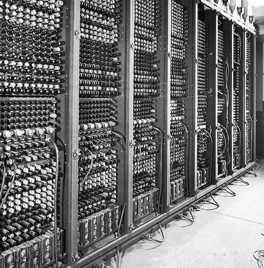 The problem with ENIAC was its vacuum tubes. The machine