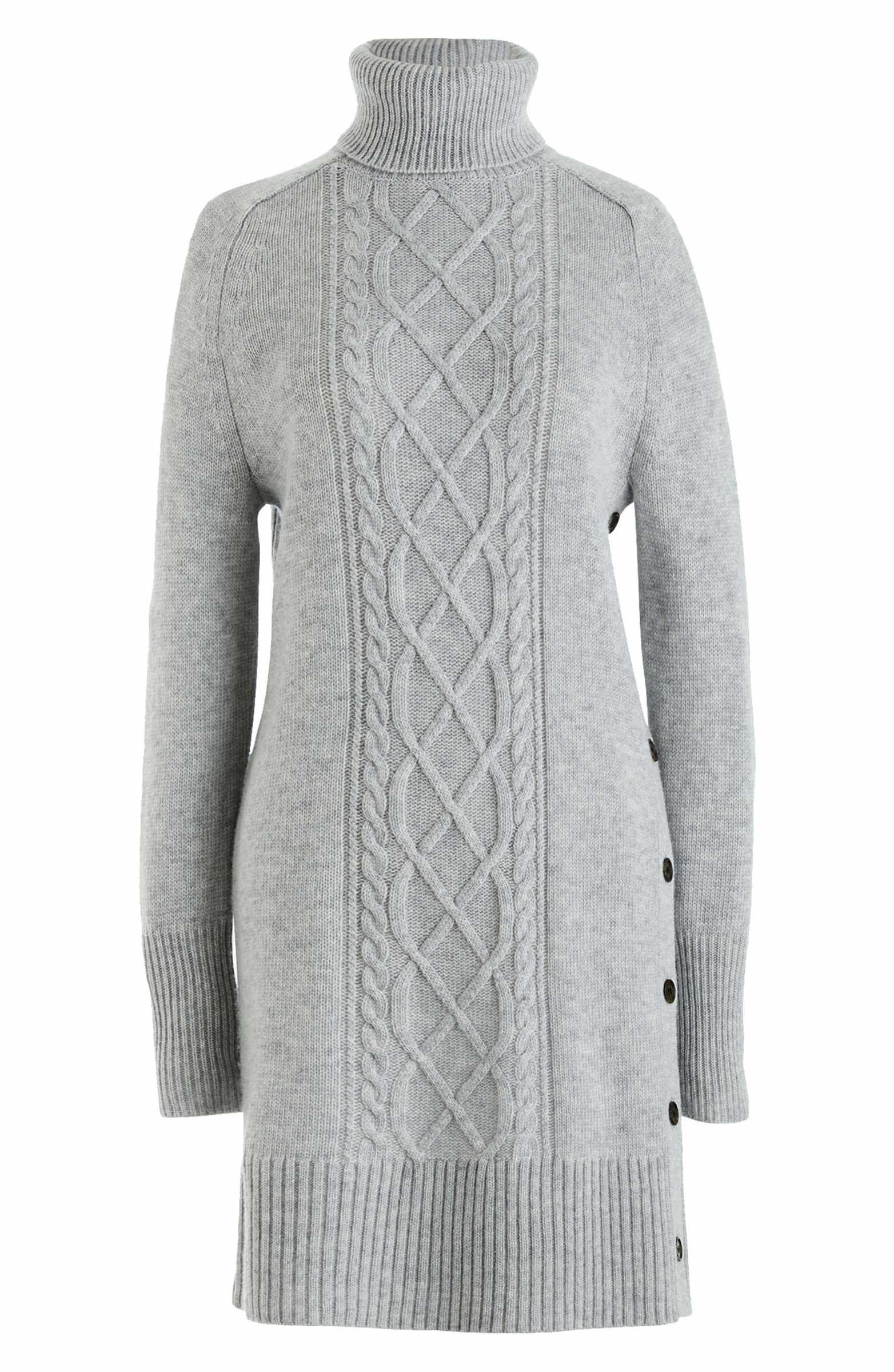 eb73500e1e5 Main Image - J.Crew Cable Knit Turtleneck Sweater Dress