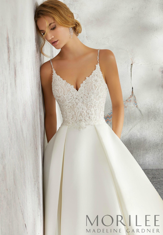 Luella Wedding Dress Morilee Mori Lee Wedding Dress Spaghetti Strap Wedding Dress Ball Gown Wedding Dress [ 2630 x 1834 Pixel ]