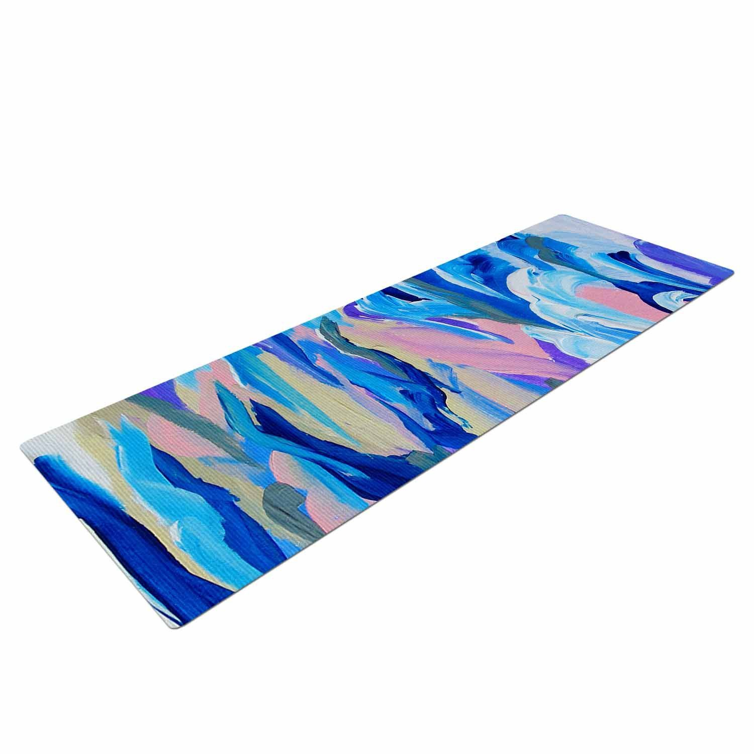 "Ebi Emporium ""Still Up The Air"" Blue Purple Yoga Mat"