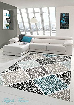 Moderner Teppich Designer Orientteppich Mit Glitzergarn Wohnzimmer Ornamente Meliert In Creme Beige Grau