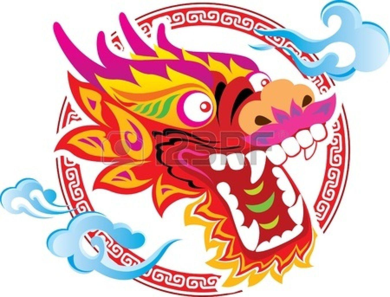 Color de la Cabeza del Dragón chino de arte del diseño Foto de ...