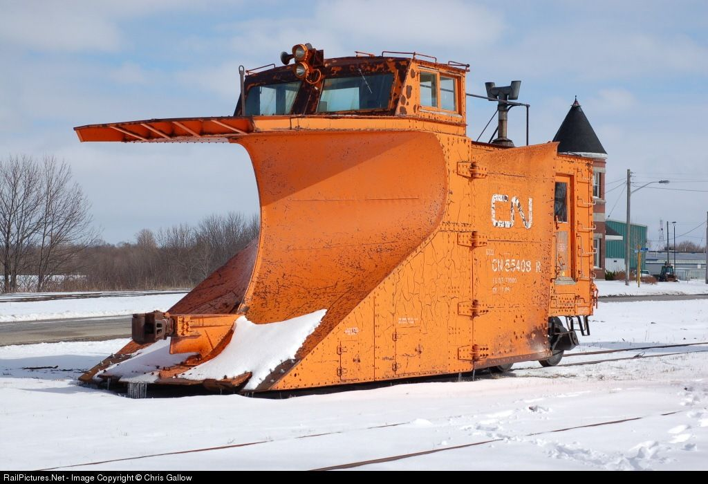 A Canadian National Railway Russel snow plough (Photo by