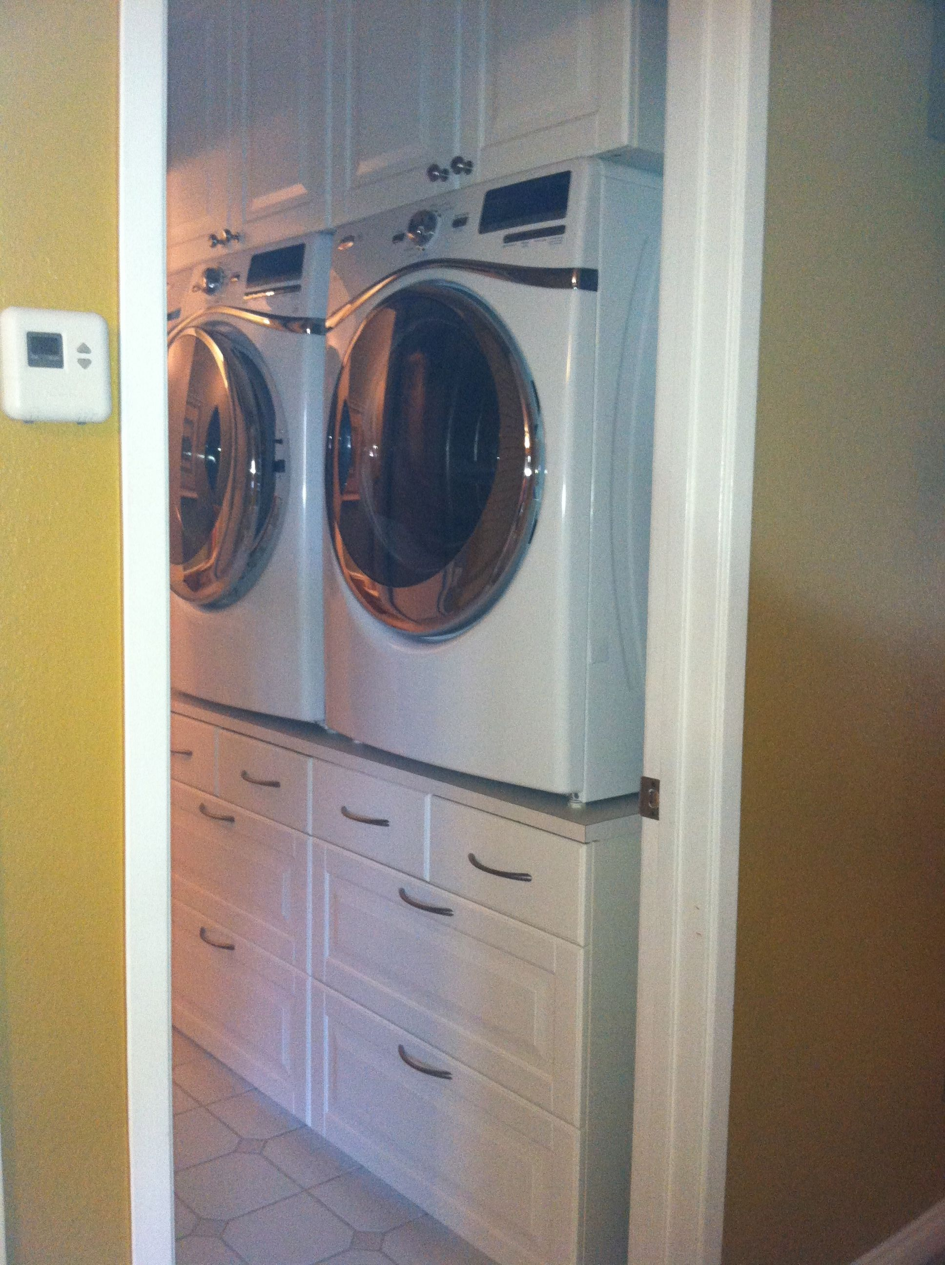 Closet Washer Dryer Design Ideas Pictures Remodel And Decor Washer And Dryer Stand Laundry Room Design Laundry Mud Room