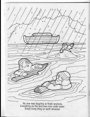 Noah And The Flood Coloring Pages Coloring Pages Noah Flood Color
