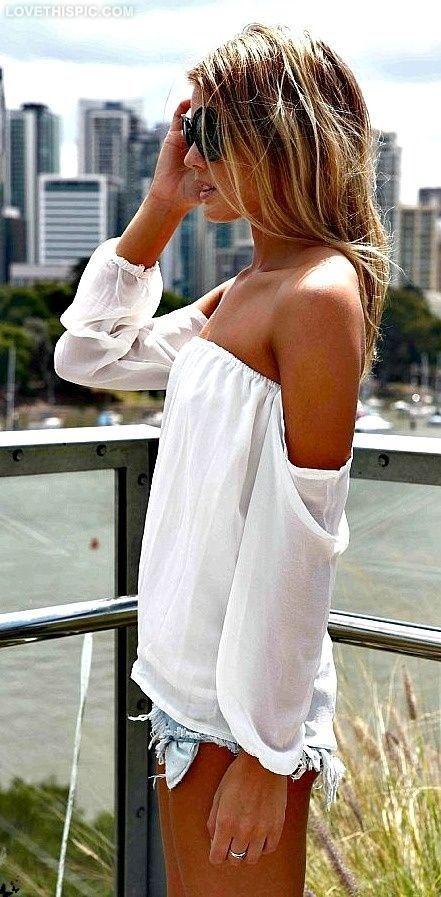 Summer Top sexy fashion summer white denim. Denim? where?