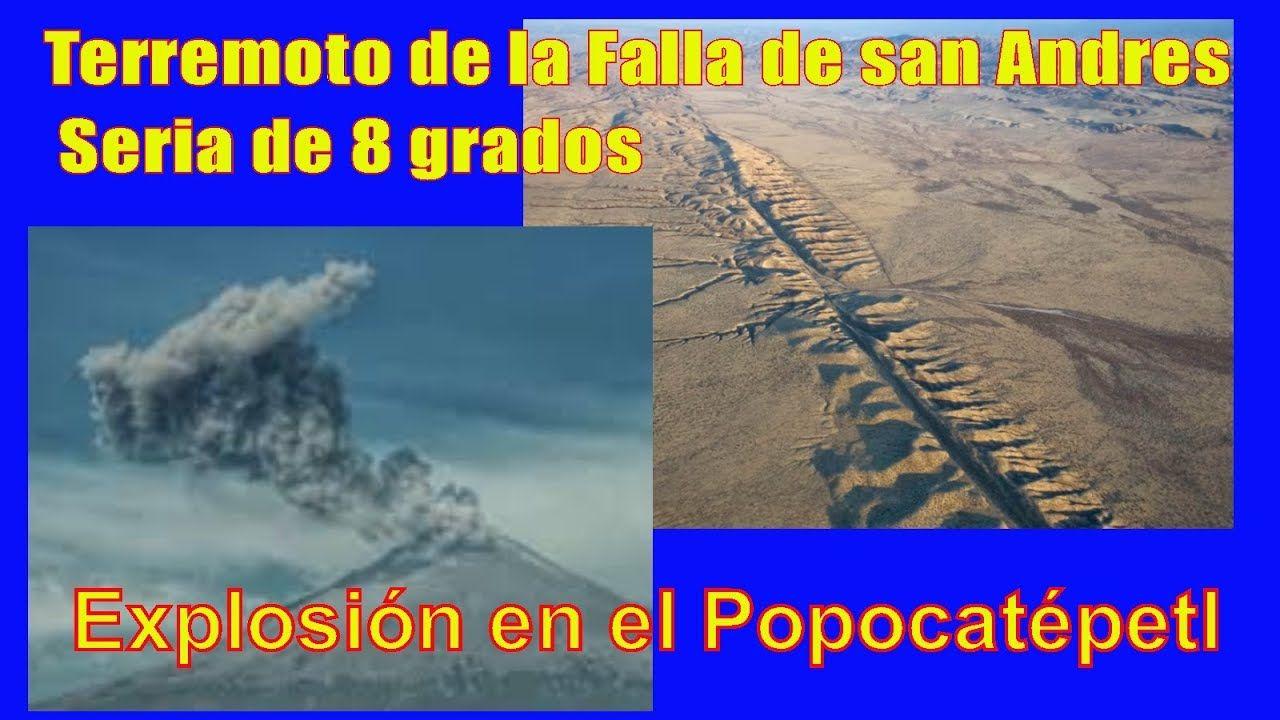 Explosion Volcan Popocatepetl Erupcion De Hoy Terremoto En La Falla De S Falla De San Andres Volcan Popocatepetl Explosion