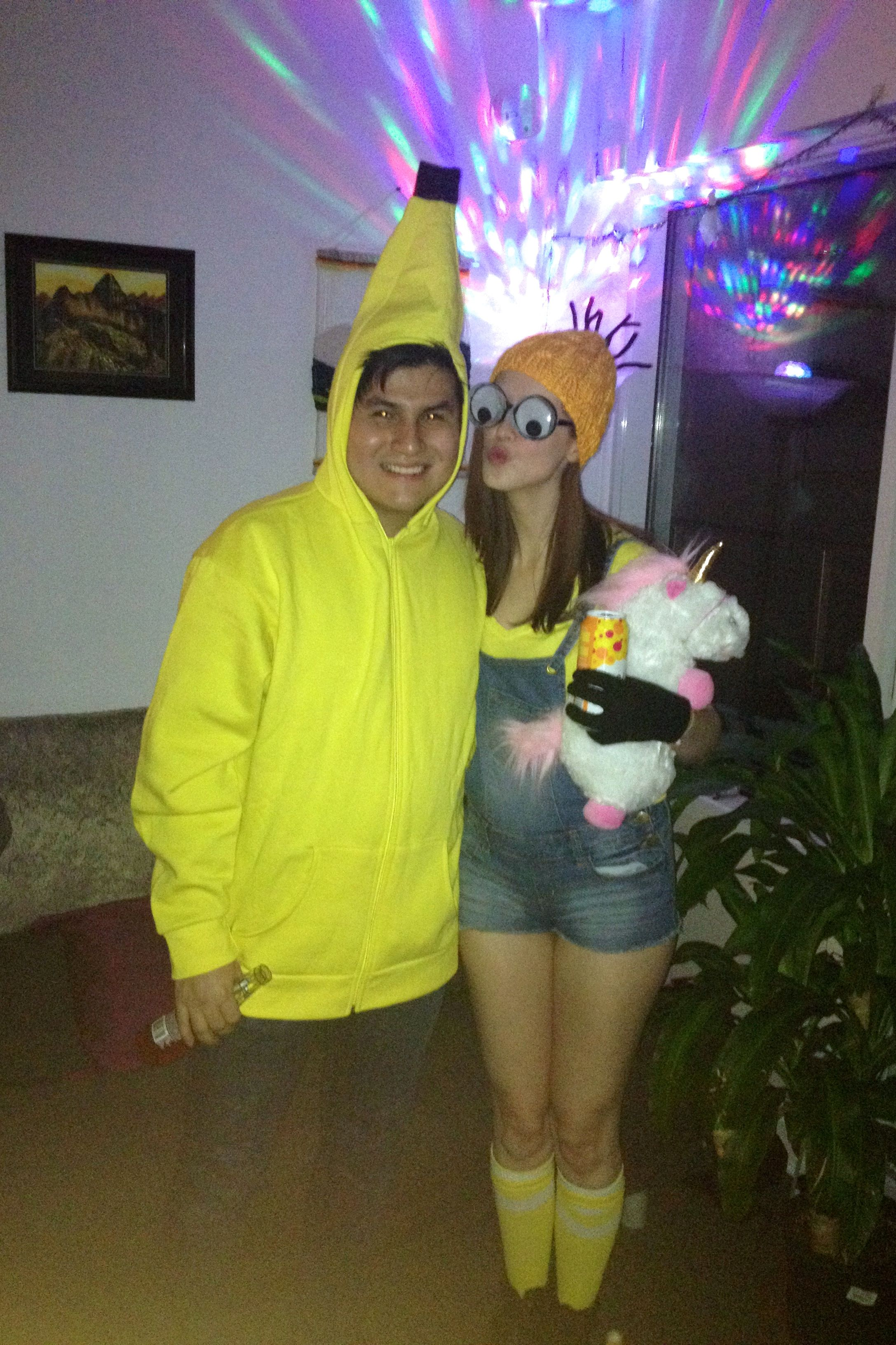 #halloween #couple costume #banana #minion -with my baby on Halloween u003c  sc 1 st  Pinterest & halloween #couple costume #banana #minion -with my baby on Halloween ...