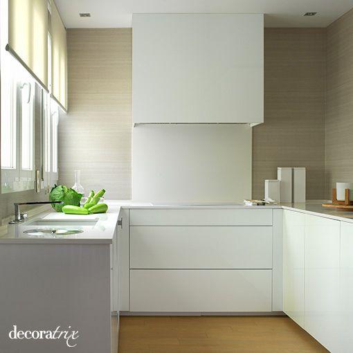 Una cocina moderna blanca y limpia Cocina moderna blanca Cocina