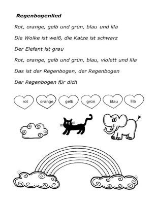 arbeitsblatt-regenbogenlied | Worksheets German | Pinterest | Worksheets