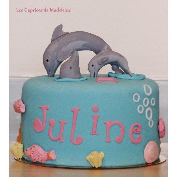 le gâteau dauphins | les caprices de madeleine - cake designer