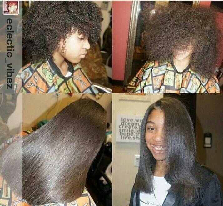Natural Hair Styles For Black Girls Flat Ironed Flat Iron